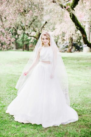 Two piece wedding dress - Caroline Ross Photography