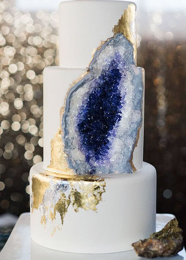 Wedding Cake Trends - Geode Inspired by Intricate Icings Cake Design
