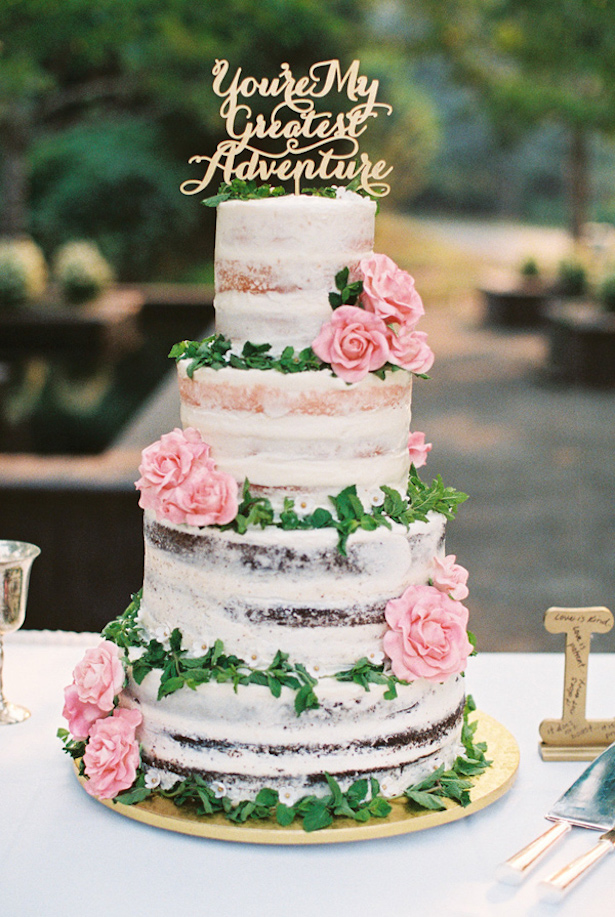 Wedding Cake Trends - Naked Cake - photo by Jamie Rae Photography
