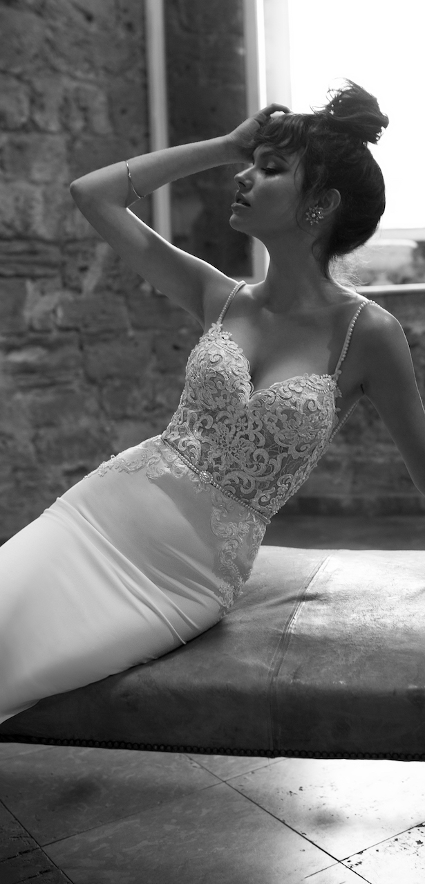 Wedding Dress by Julie Vino 2017 Romanzo Collection | Fitted lace bridal gown with sweetheart neckline