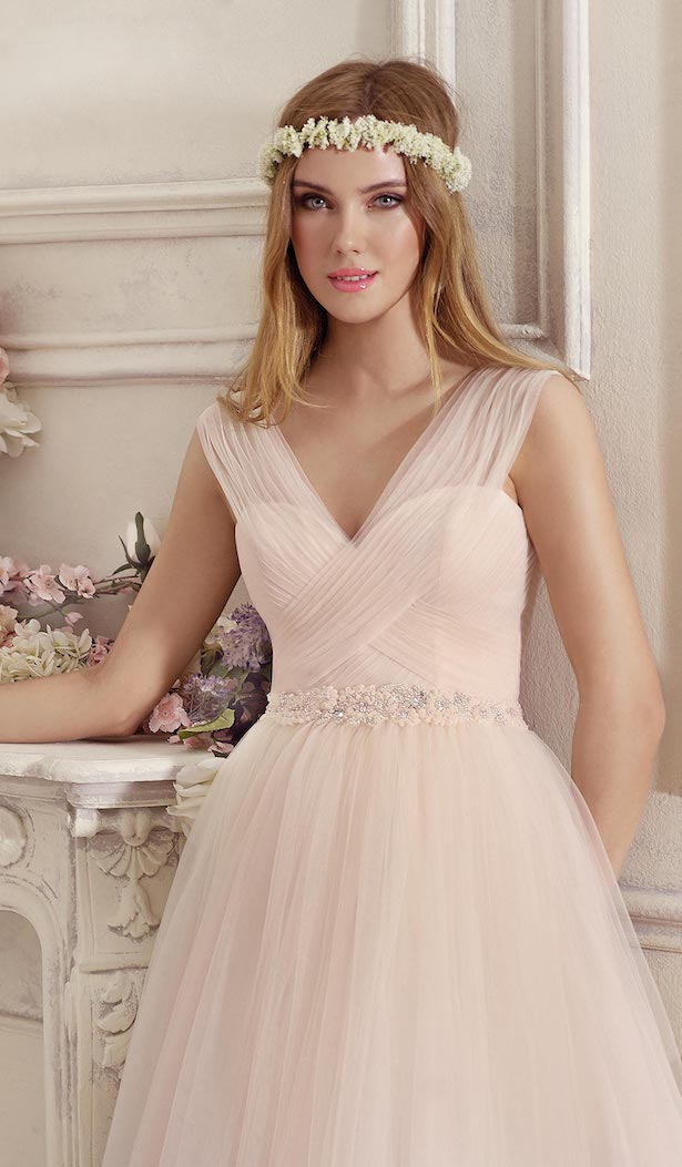Blush ballgown Wedding Dress by Fara Sposa 2017 Bridal Collection