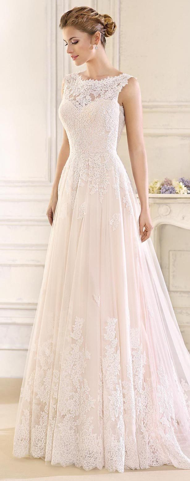 Best Wedding Dresses of 2017 - Sleeveless lace Wedding Dress by Fara Sposa 2017 Bridal Collection