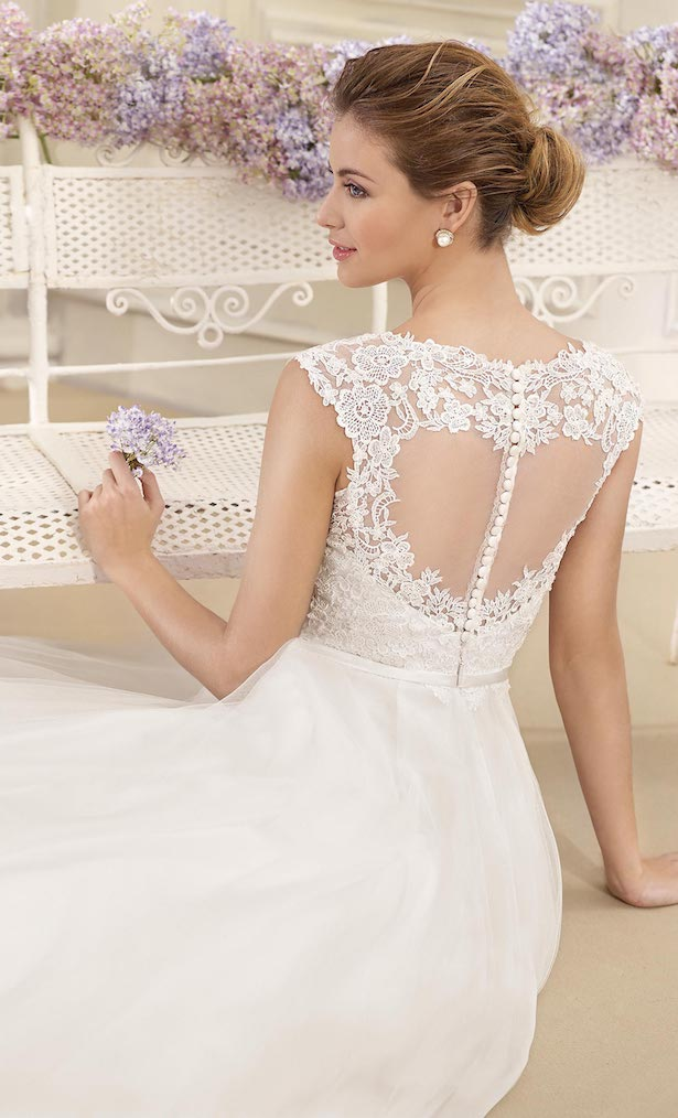 Cap sleeve lace ball gown Wedding Dress by Fara Sposa 2017 Bridal Collection