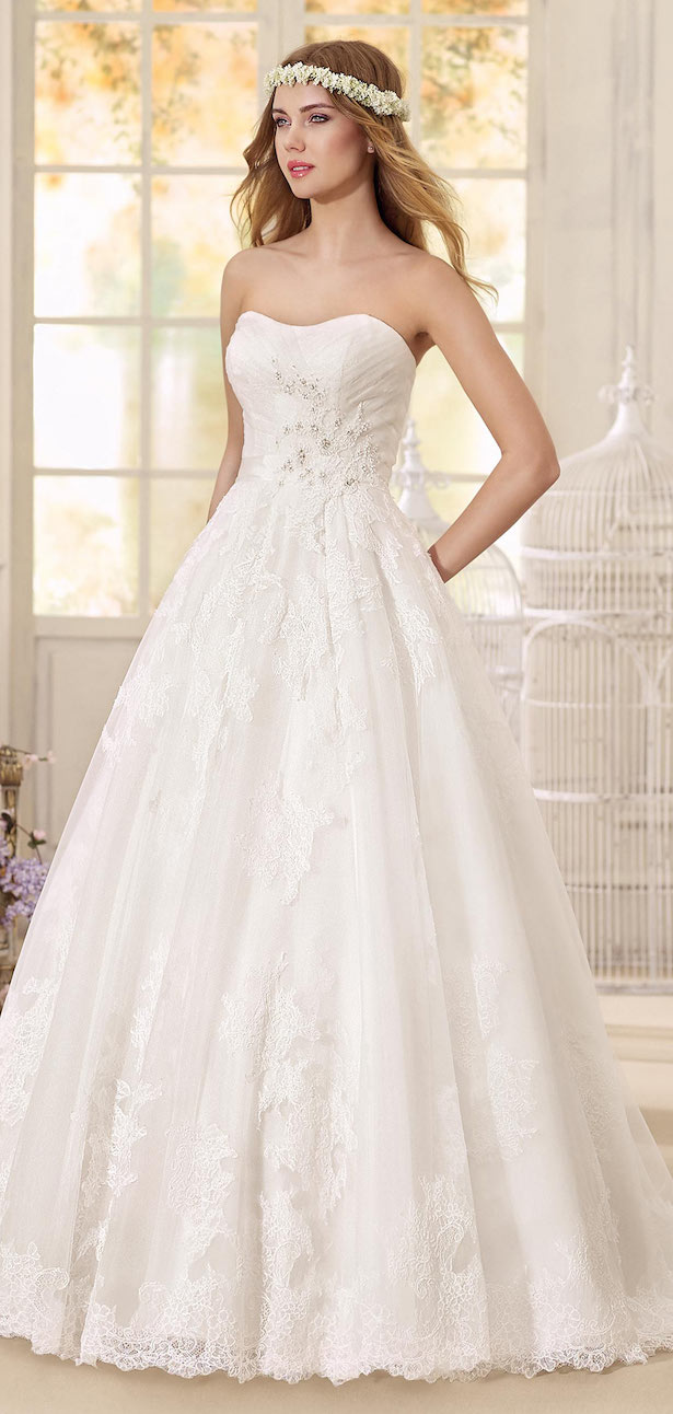 Lace Ball Wedding Dress by Fara Sposa 2017 Bridal Collection