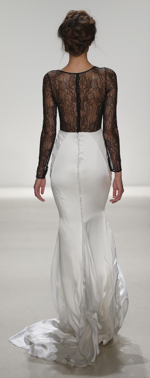 Black and white Wedding Dress by Kelly Faetanini Spring 2018 - MACBETH