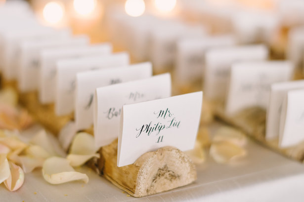 Wedding escort cards - Hunter Photographic