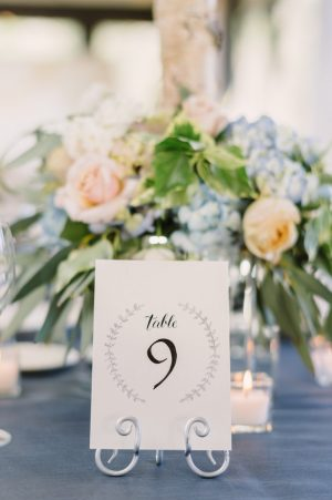 Wedding table number - Hunter Photographic
