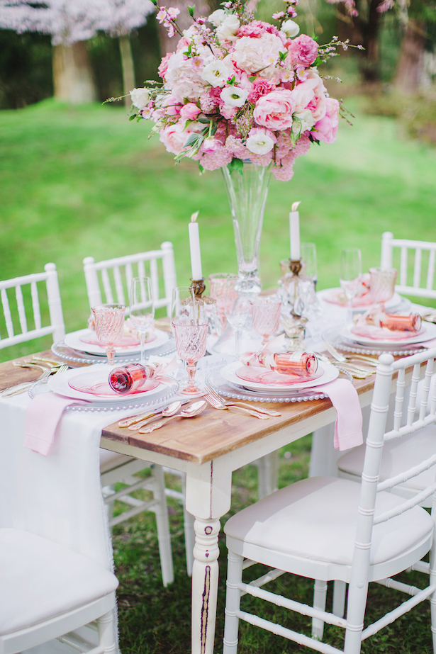 Pink Spring Wedding tablescape - Caroline Ross Photography