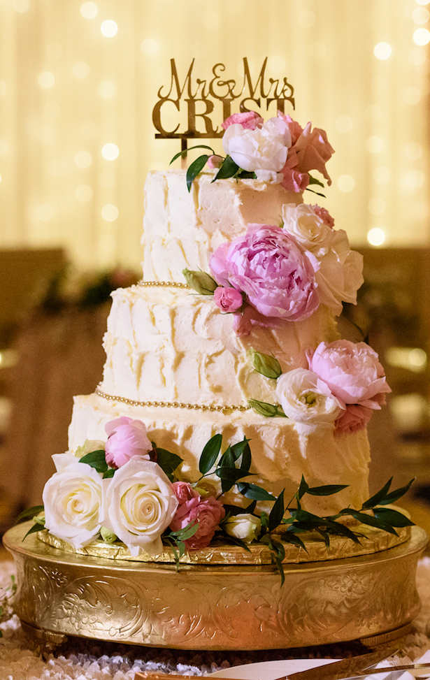 White Buttercream Wedding Cake - Katie Whitcomb Photographers