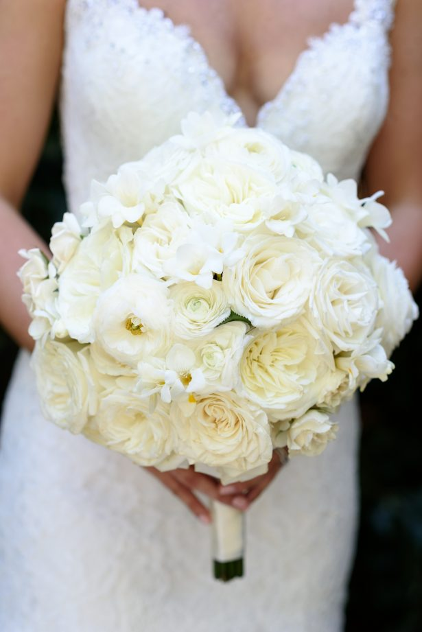 All white wedding bouquet - Katie Whitcomb Photographers