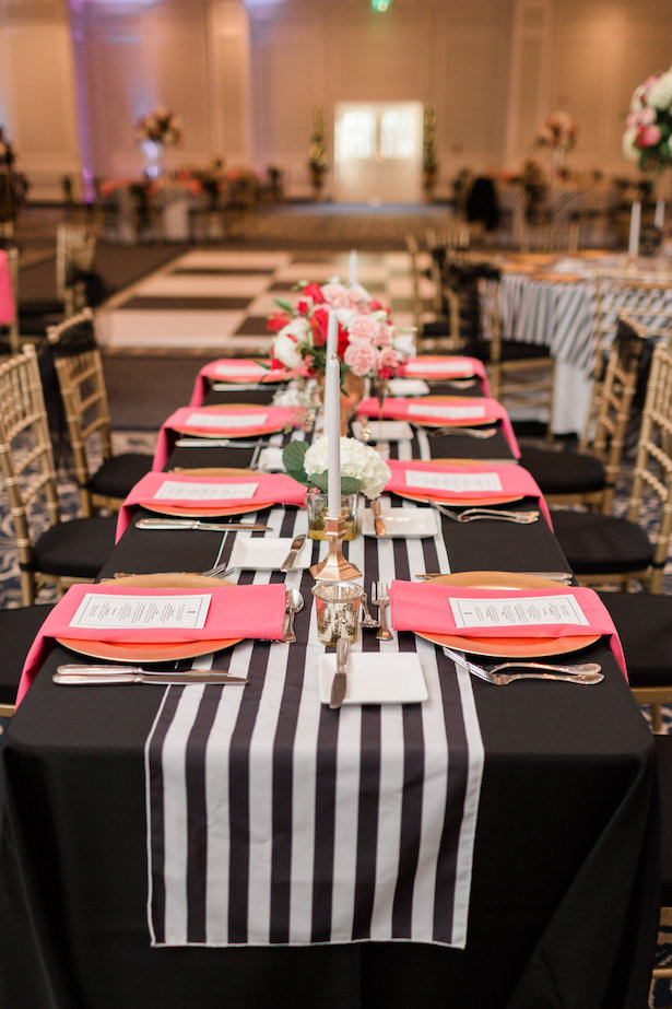 Kate Spade Inspired Wedding Tablescape - Alicia Lacey Photography