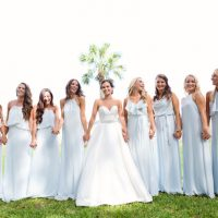 Blue bridesmaid dresses - Sunny Lee Photography