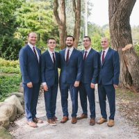 Blue groomsmen tux - Manifesto Photography