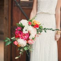 Peonies and Chalkboard Wedding Inspiration with a Hint of Glamour