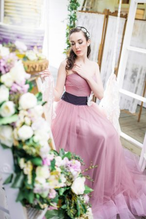Purple Wedding Dress - L'estelle Photography