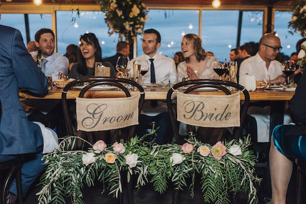 Bride and groom chairs - The White Tree Photography