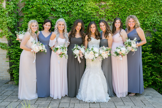 Mismatched Bridesmaid dresses - Erin Johnson Photography
