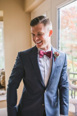 Burgundy groom bow tie - Manifesto Photography