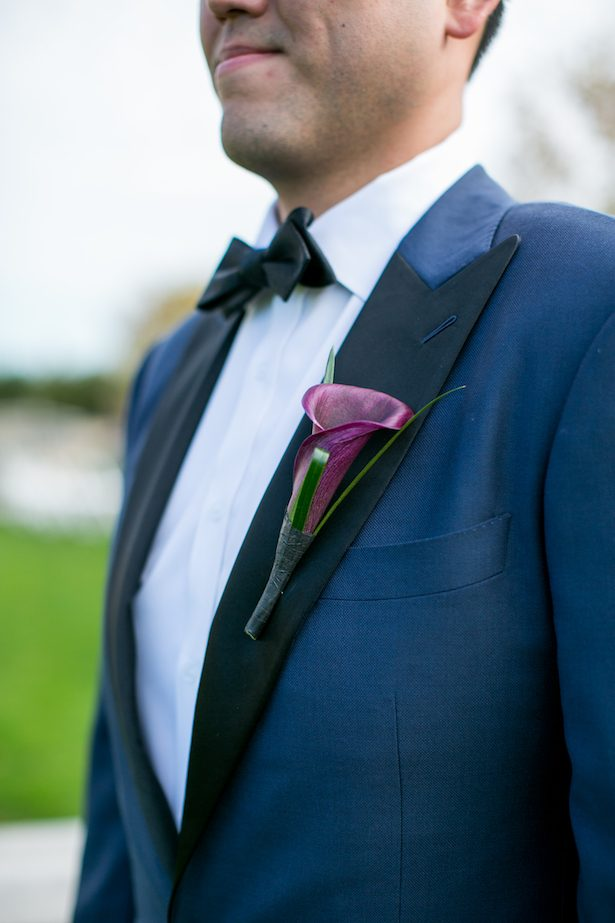 Calla lilie groom boutonniere - Cody Raisig Photography
