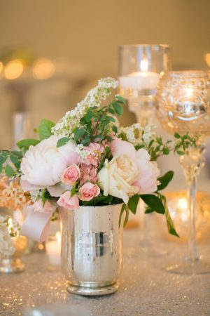 Classic wedding centepiece - Erin Johnson Photography