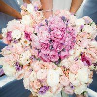 Pink wedding bouquets - Style and Story Photography