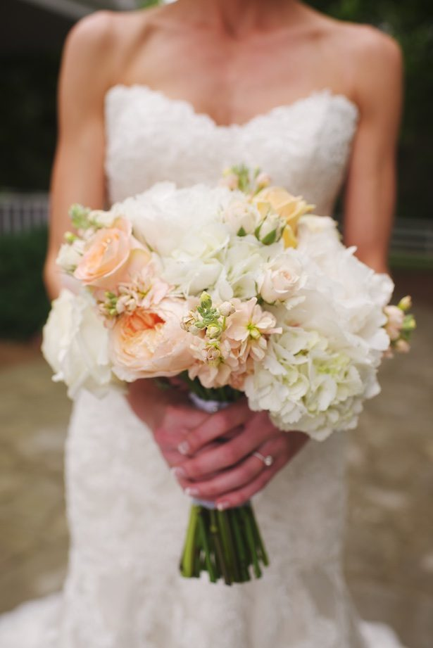 Coral wedding bouquet - Justine Wright Photography