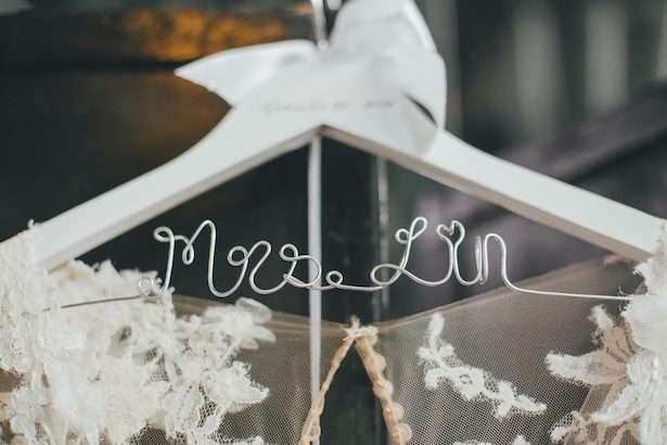 Custom wedding hanger - Olli Studio