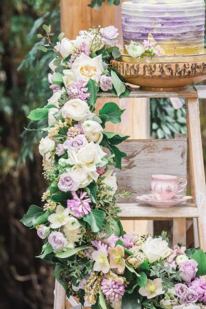 Floral waterfall wedding decor inspi - L'estelle Photography