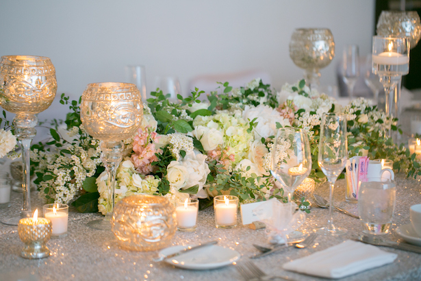 Long wedding centerpiece - Erin Johnson Photography