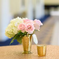 Pink and white wedding centerpiece - Katie Whitcomb Photographers