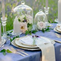 French blue tablecloths - Kristen Borelli Photography