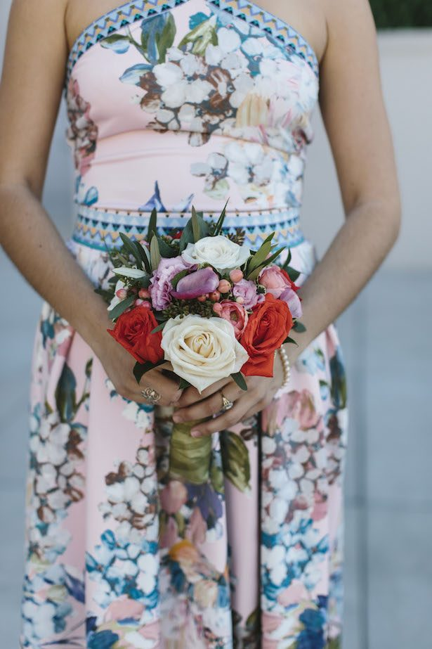Floral Bridesmaid Dress - Photography: Rad + In Love