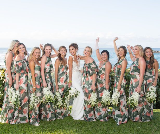 Floral Bridesmaid Dresses - Photography: Chris J. Evans