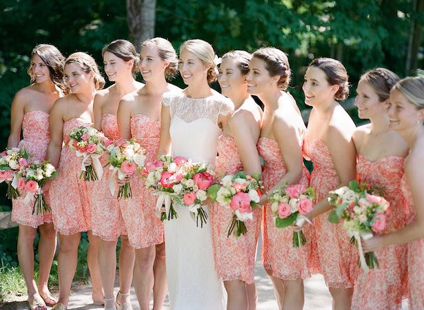 Floral Bridesmaid Dresses - Hunter Photographic