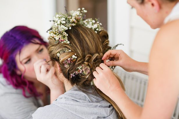 Bridal Floral Crown - Photography: Love Me Do Photography