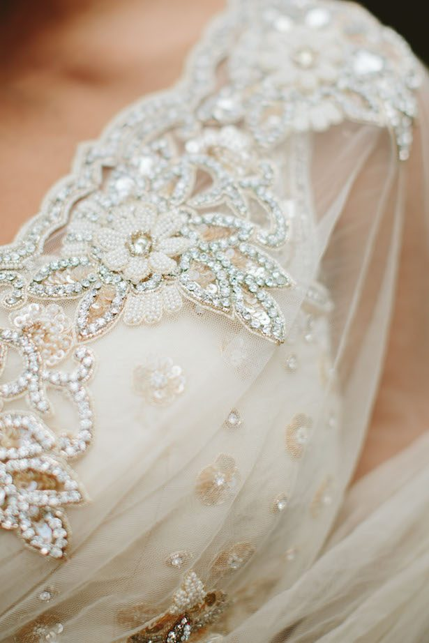 Floral Applique Wedding Dress - Photography: Kaytee Lauren