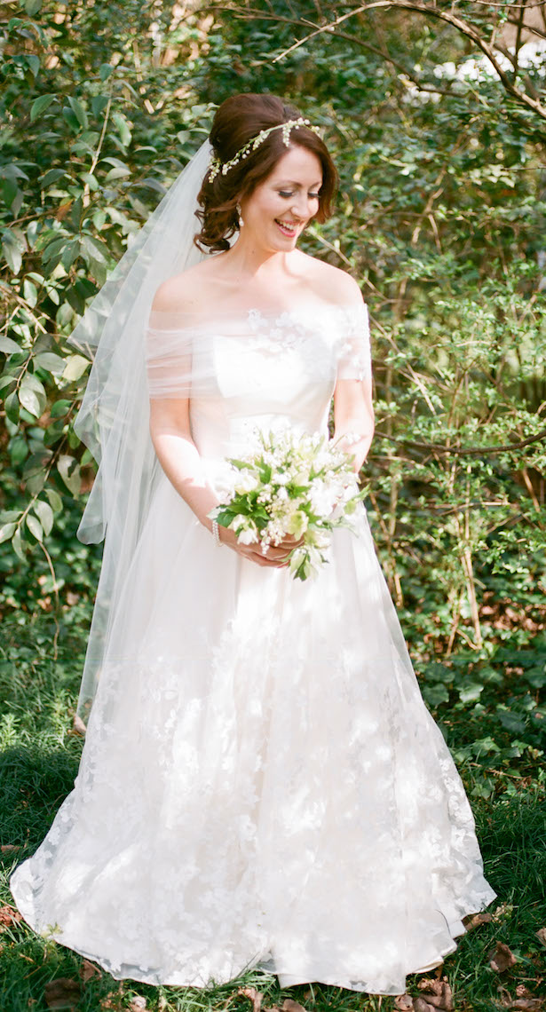 Fresh Floral-Inspired Wedding Dress