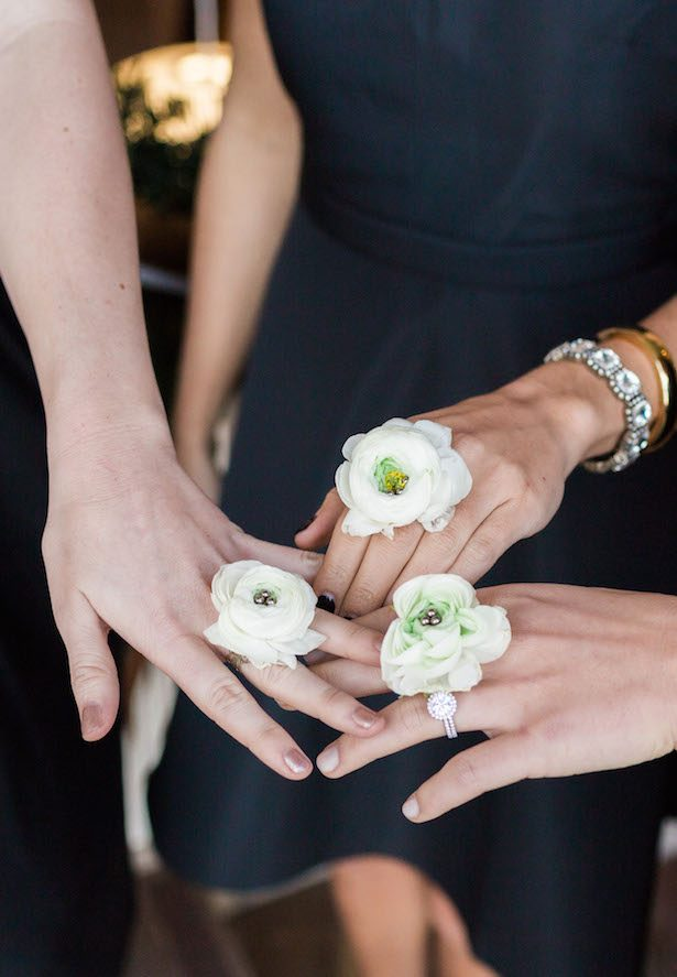 Floral Rings for Bridesmaids - Kristen Edwards Photography