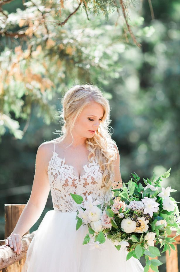 Floral appliques wedding dress - Jenna Joseph Photography