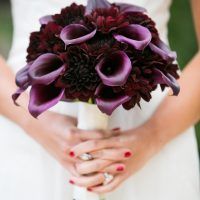 Purple wedding bouquet - Cody Raisig Photography