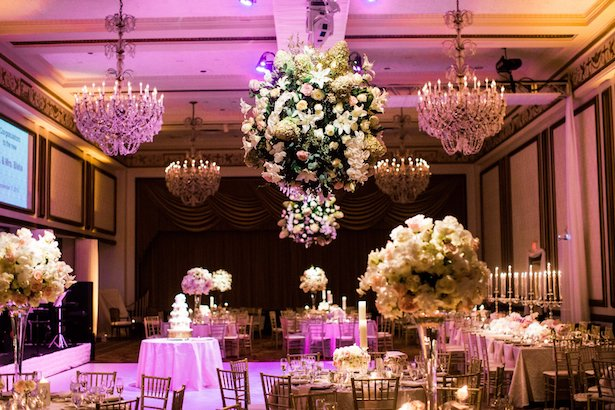 Hanging floral wedding pieces - Style and Story Photography