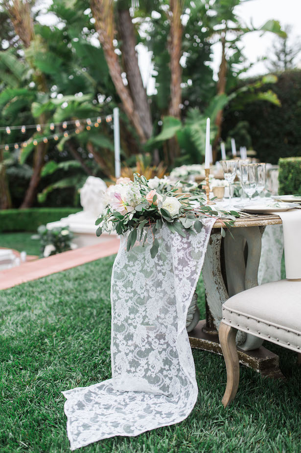 Lace wedding decor - Kiel Rucker Photography