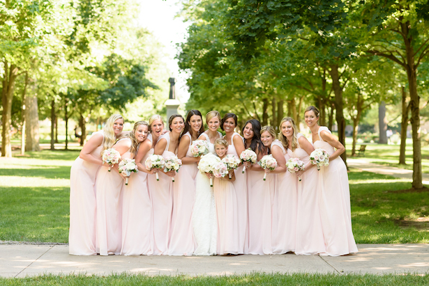 Long pink bridesmaid dresses - Katie Whitcomb Photographers
