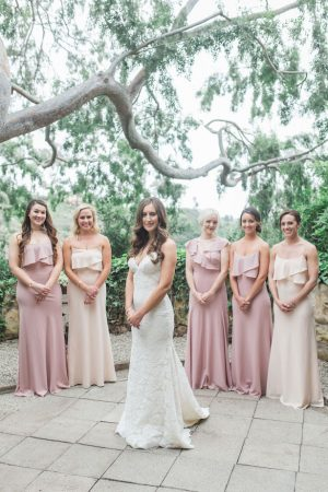 Long Neutral bridesmaid dresses - Kiel Rucker Photography