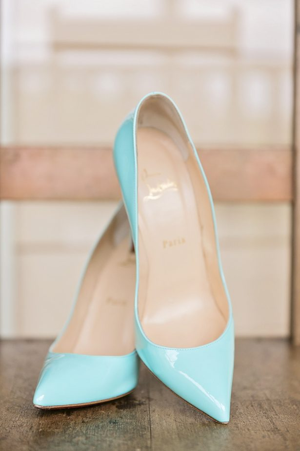 Mint wedding shoes - Calli B Photography's