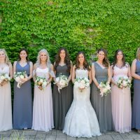 Mix match bridesmaid dresses - Erin Johnson Photography