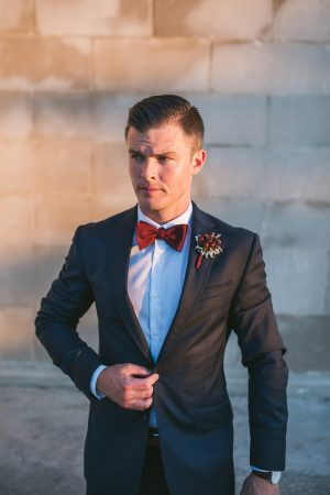 Navy blue wedding tux - Manifesto Photography