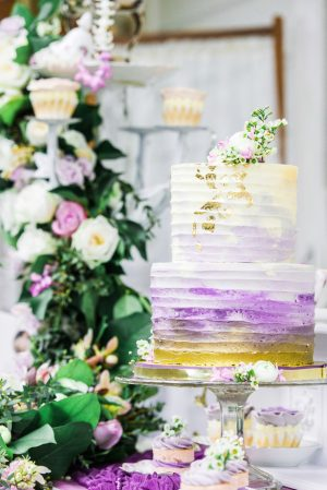 Ombre wedding cake - L'estelle Photography