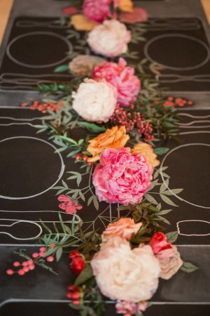 Garland Wedding Centerpiece - Gideon Photography