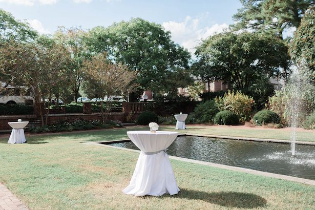 Outdoor tall wedding tables – Alicia Lacey Photography